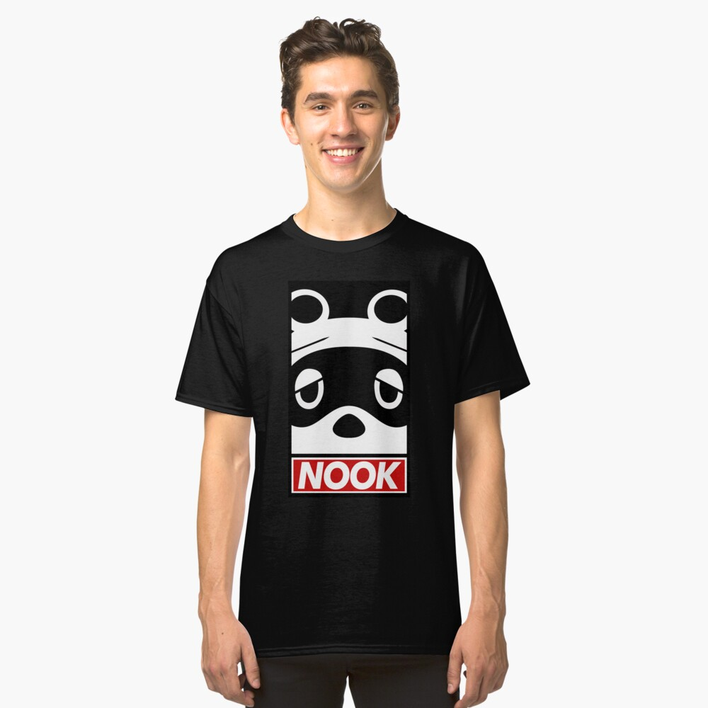 """""""OBEY"""" Tom Nook (Animal Crossing) Classic T-Shirt Front"""