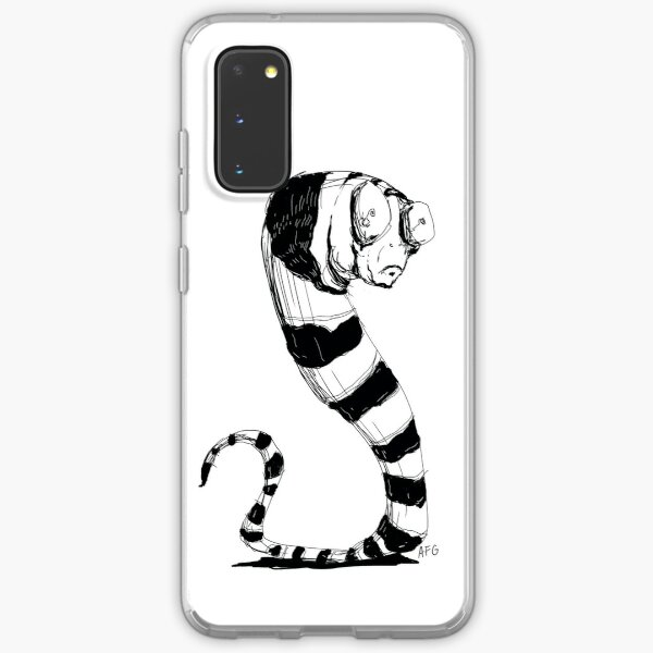 Bug Eyed Black and White Striped Snake...Thing? Samsung Galaxy Soft Case