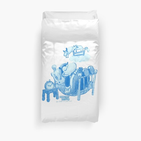 Horus Hippo - Counting Sheep Duvet Cover