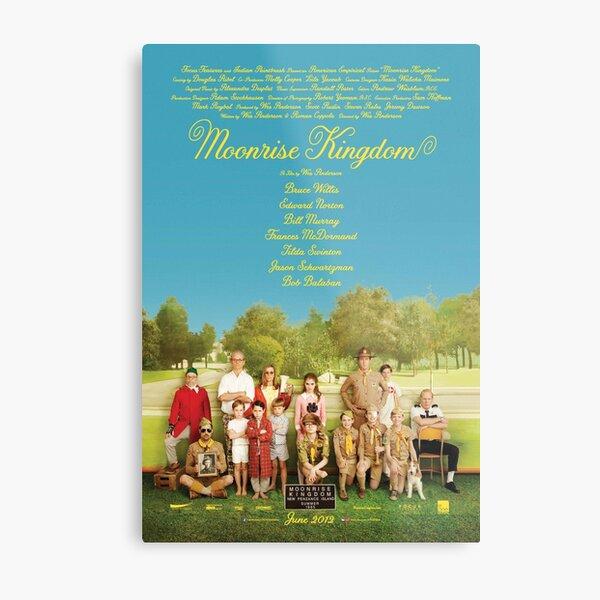 Moonrise Kingdom Affiche de film Impression métallique