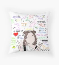 Dodie Clark Song Collage Throw Pillow