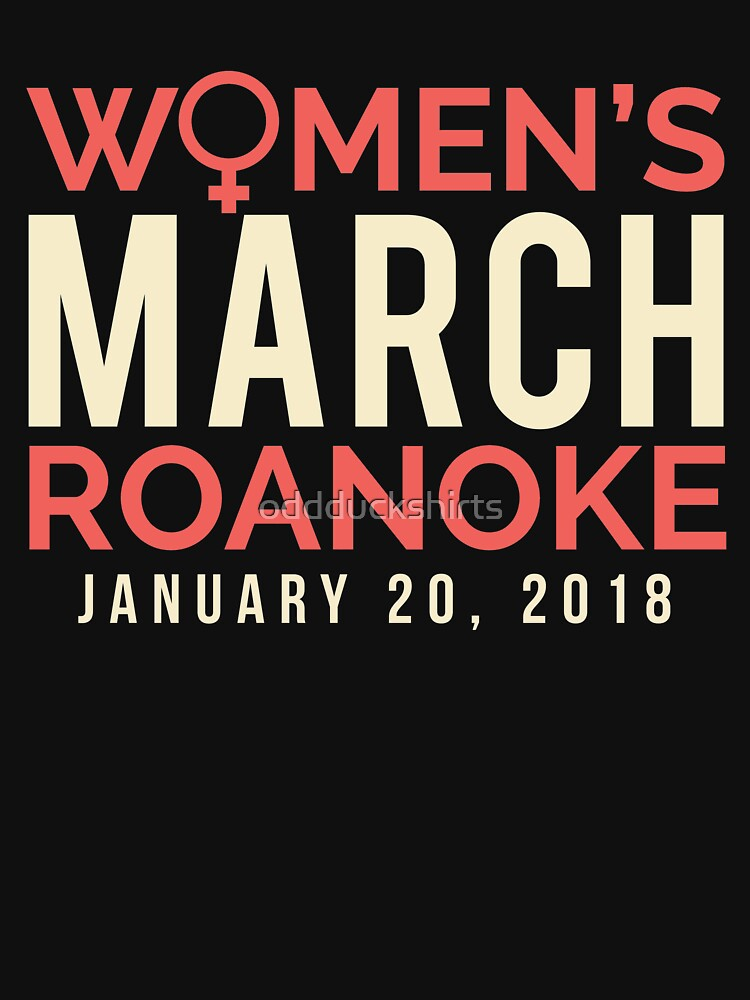 Roanoke VA Women's March January 20 2018 by oddduckshirts