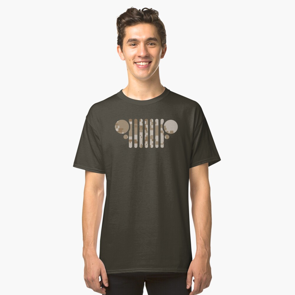 Jeep'n in Desert Camo Classic T-Shirt Front