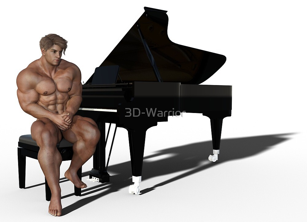 Piano Player (1) with shadow by 3D-Warrior