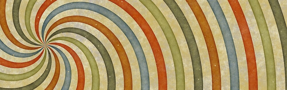 Vintage Colorful Spiral by pdgraphics