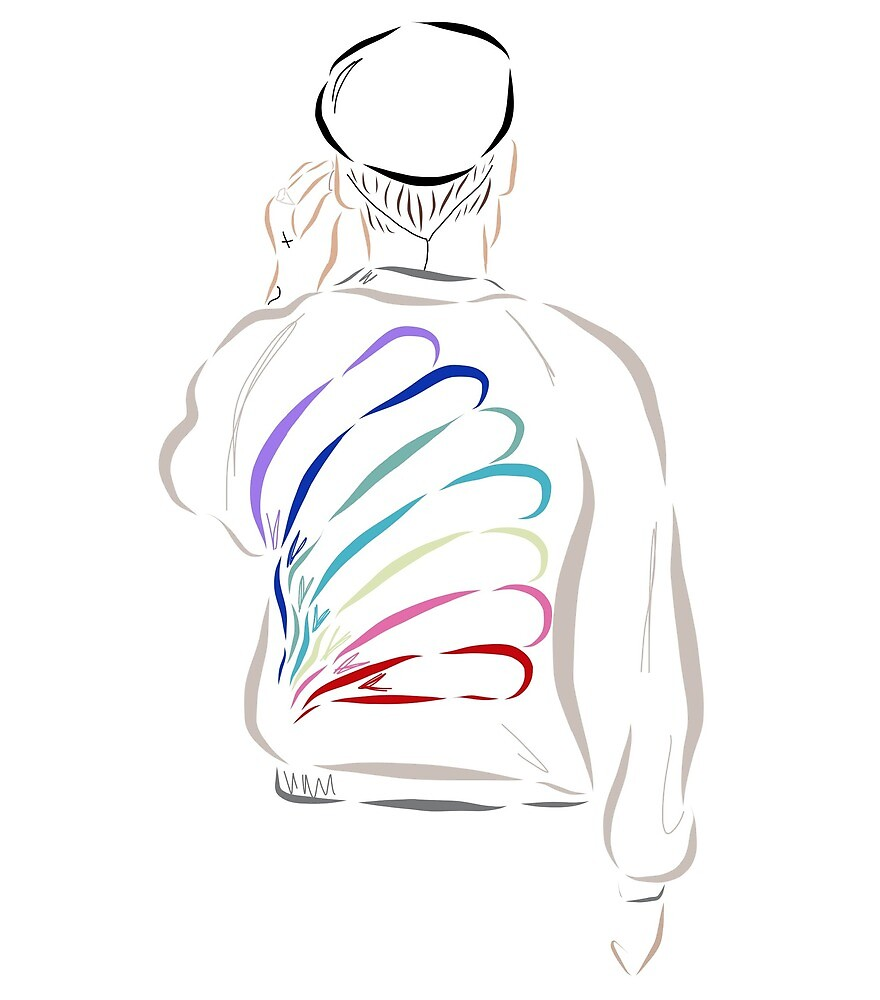 Harry Styles Rainbow Jacket by tomlinsun