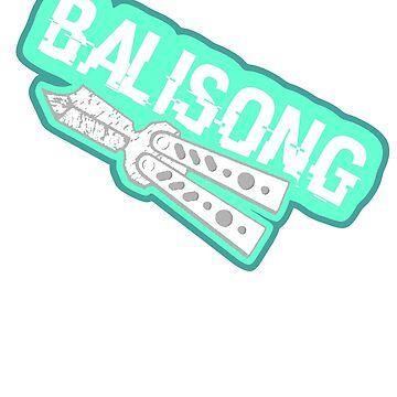 Balisong angled Design Tops & Sticker by alfalfa