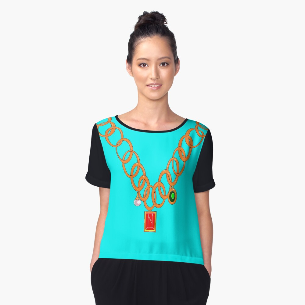 Bling, Necklace Women's Chiffon Top Front