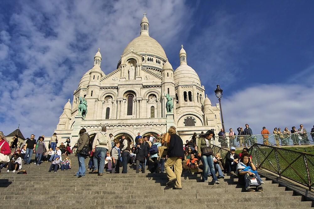 Sacre-Coeur, Montmartre in Paris by Dennis Smith
