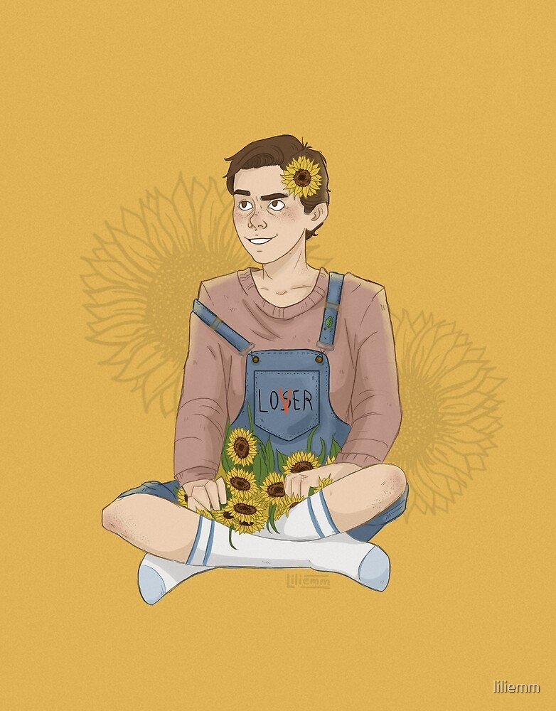 Eddie Kaspbrak with sunflowers by liliemm