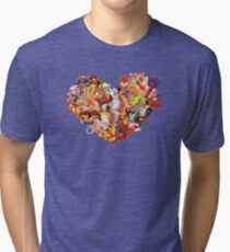 Heart (Candy) Tri-blend T-Shirt