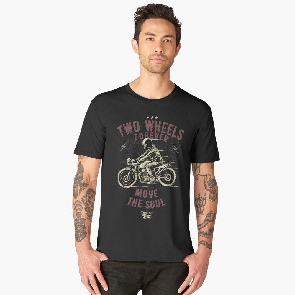 Two wheels forever Men's Premium T-Shirt Front