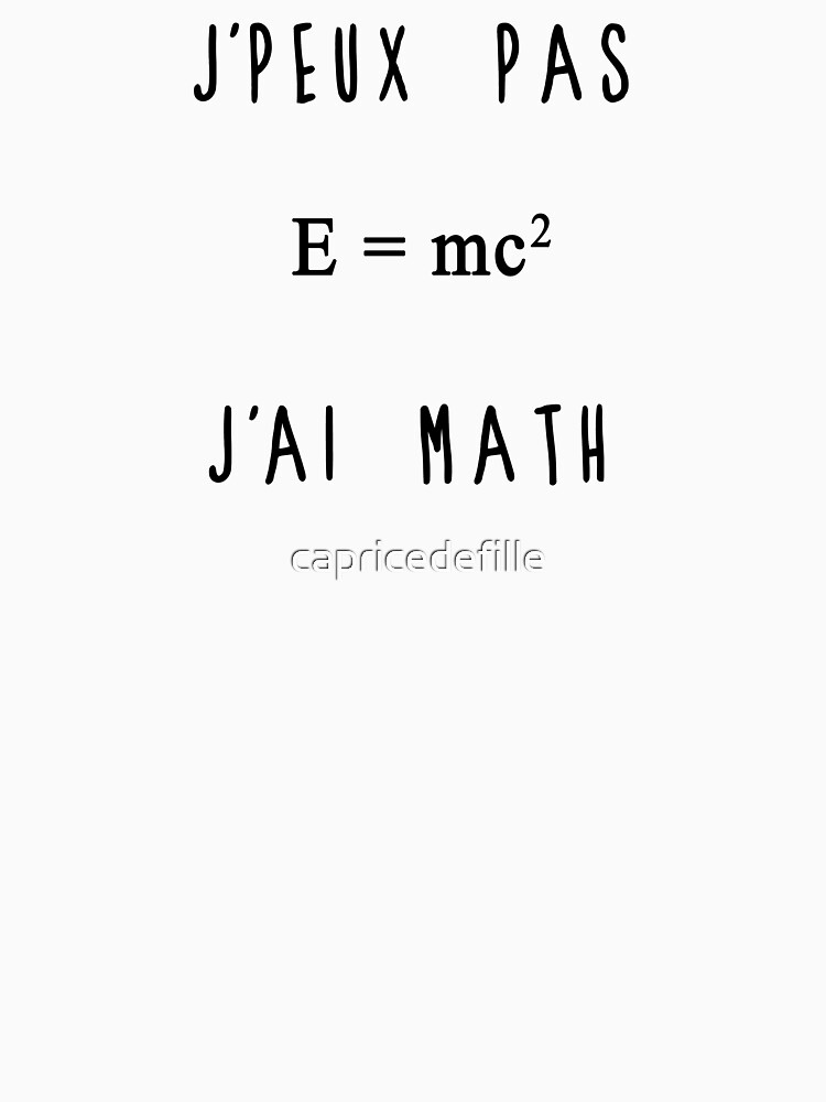 I can not have math by capricedefille