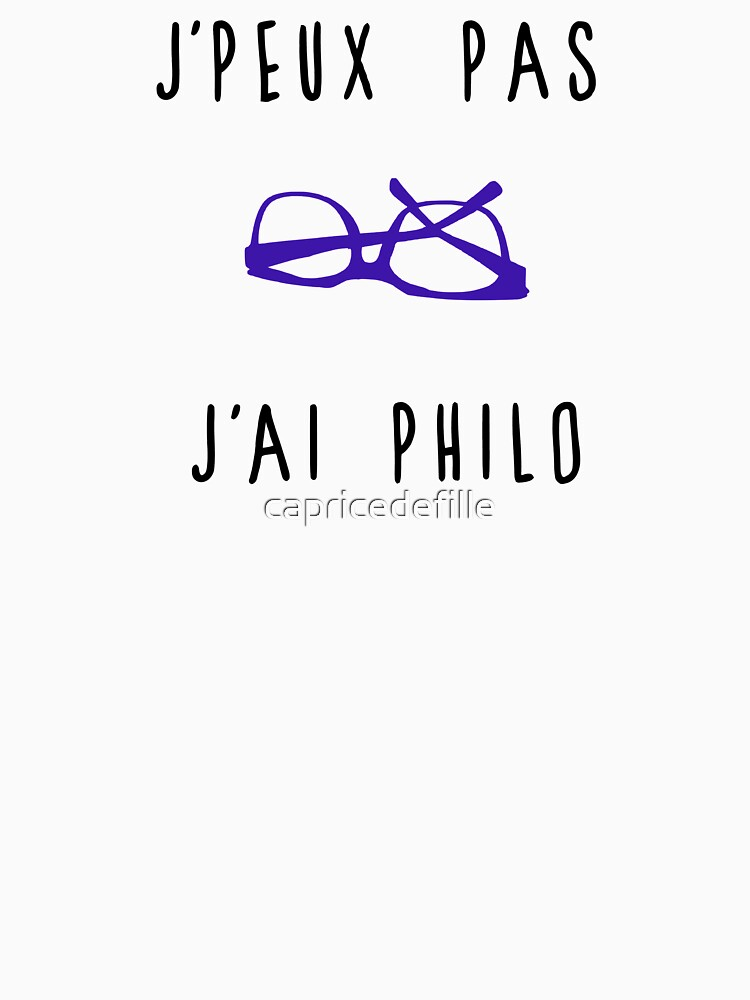 I can not I have philosophy by capricedefille