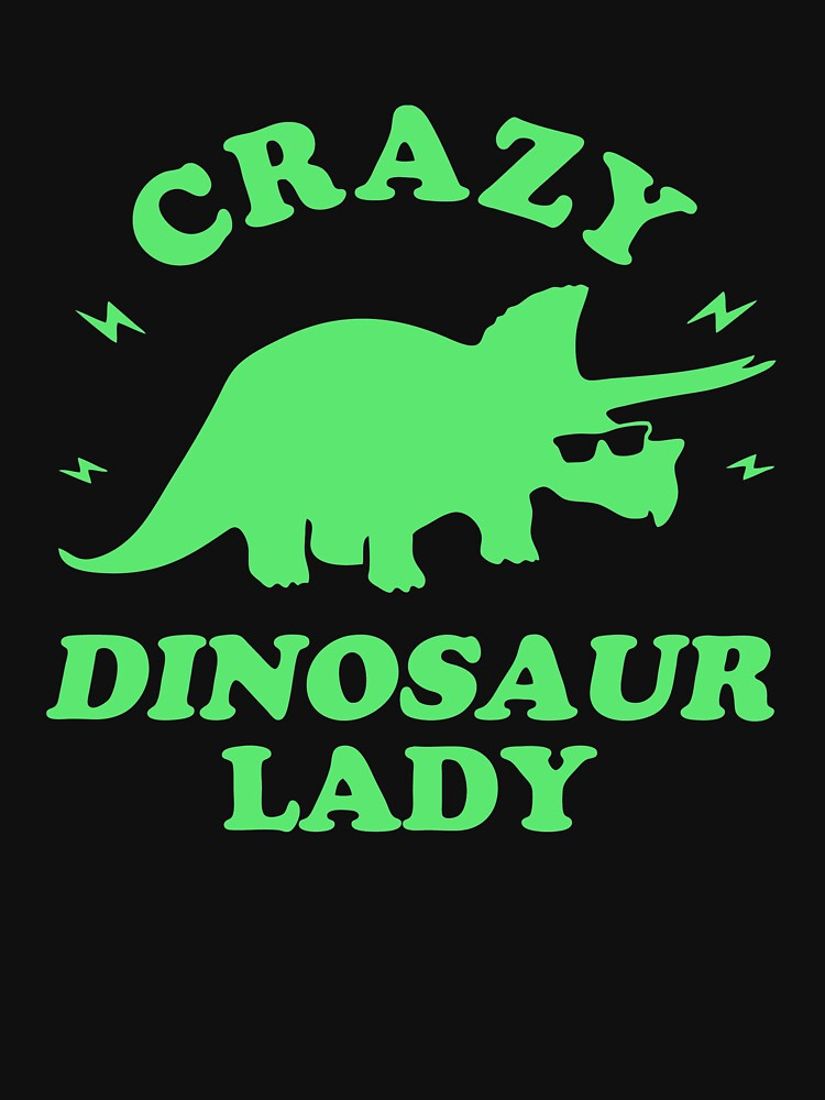 BEST SELLER JO131 Crazy Dinosaur Lady Trending by TioPionee