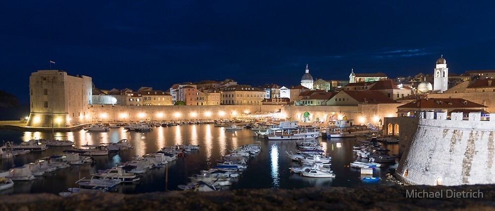 Dubrovnik at Sunset, Croatia by Michael Dietrich