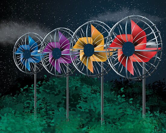 Surreal Pinwheel Fans by tygersong
