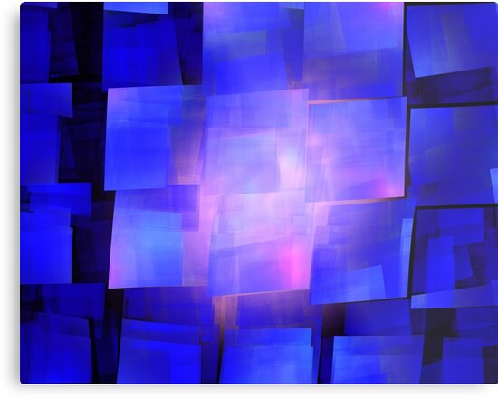 Blue Pink Cubes by KimSyOk