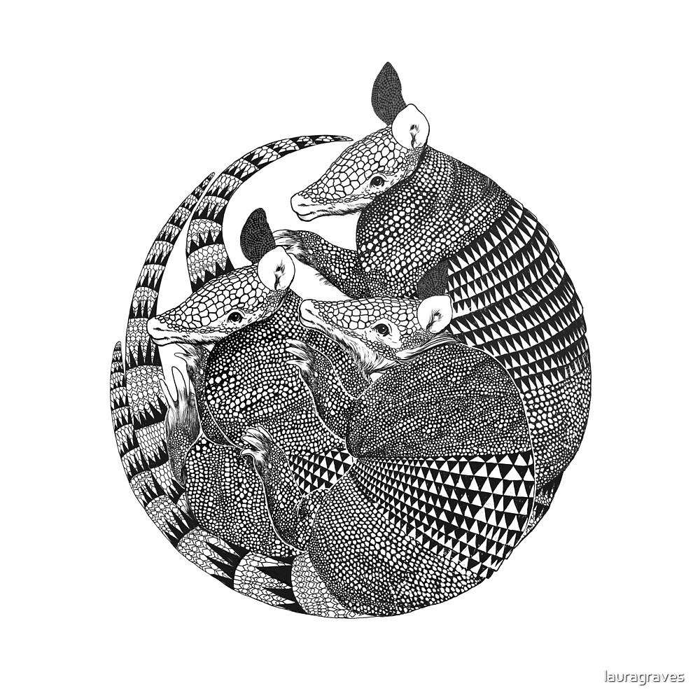 armadillos by lauragraves
