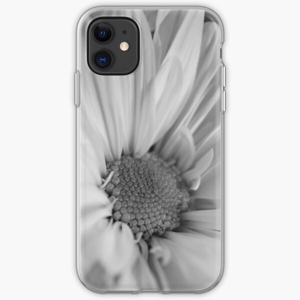 Black & White Daisies iPhone Soft Case