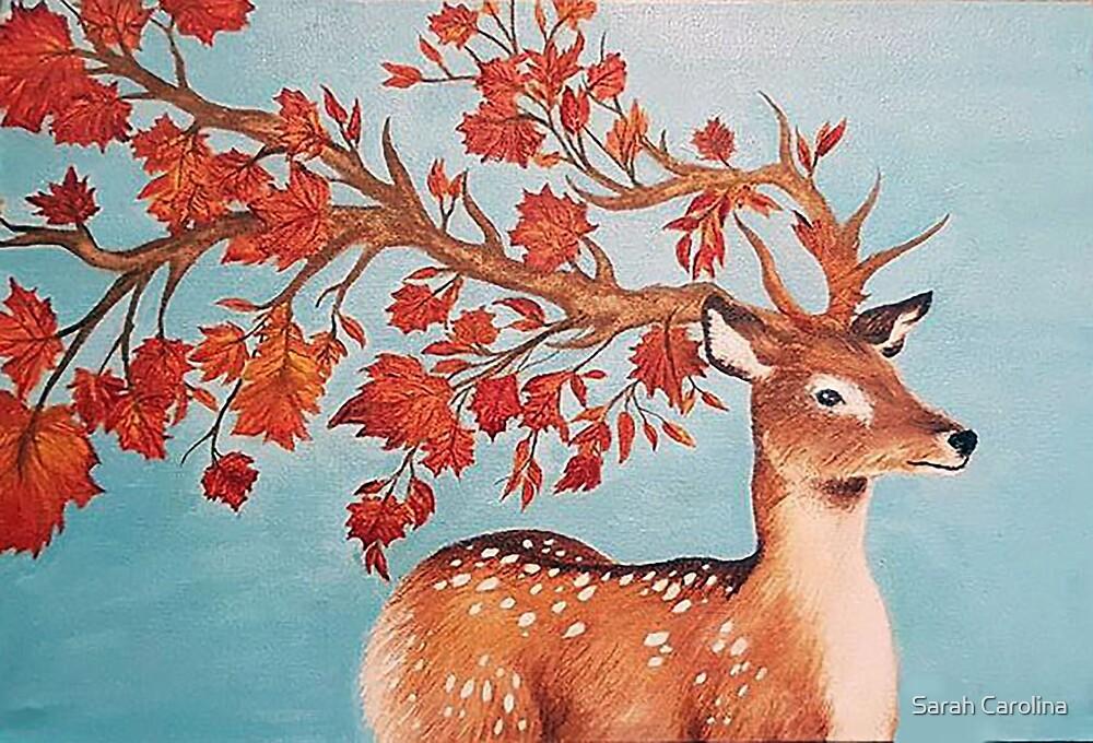 Fall Deer by Sarah Carolina