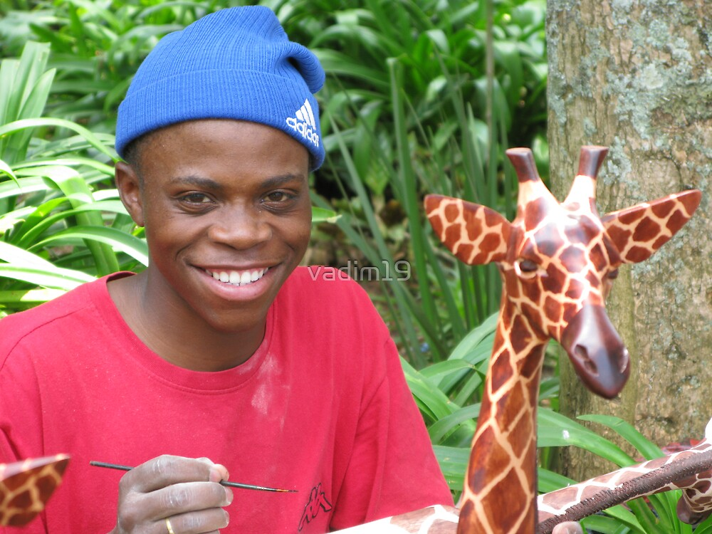 Young Craftsman, Swaziland, Africa by vadim19