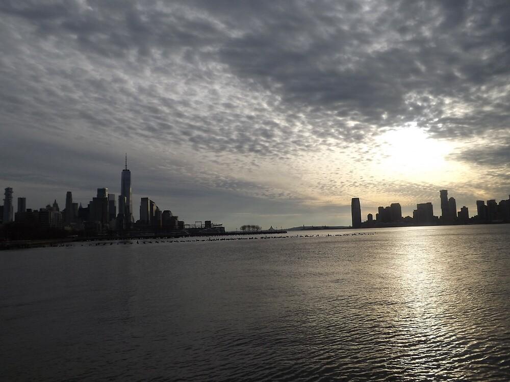 Skyline, Jersey City, Lower Manhattan, New York City by lenspiro