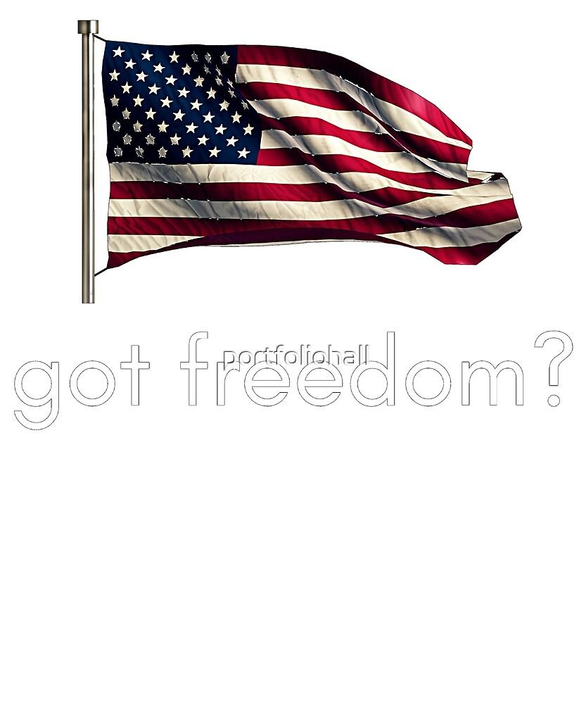 Got Freedom Funny Patriotic American by portfoliohall