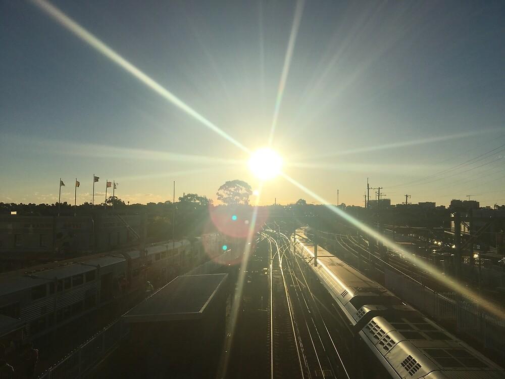 Train Heading Towards Sun by TheEnderGirl13