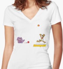 Housepets: Ball and Yarn Women's Fitted V-Neck T-Shirt