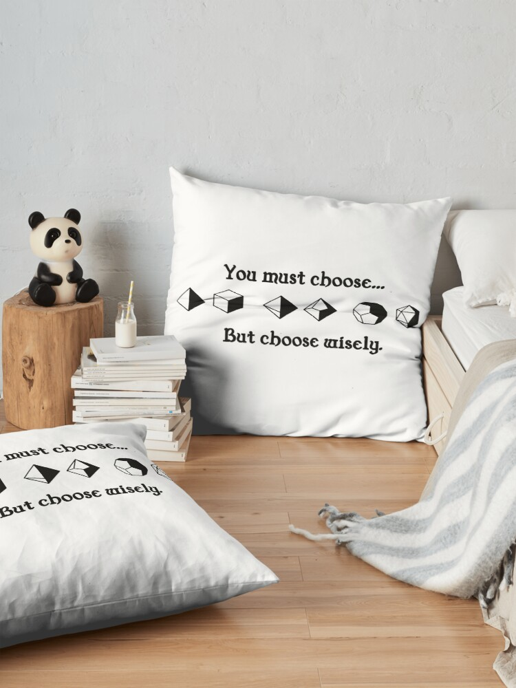 Alternate view of Choose Wisely Floor Pillow