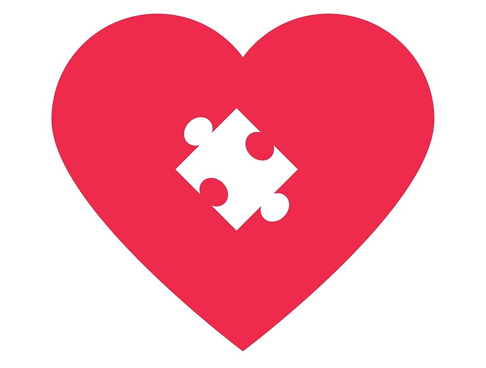 Love Valentines Day Gift - Heart & Puzzle  by Ludwig92