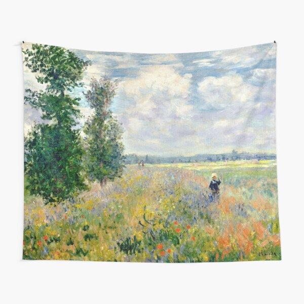 Poppy Fields near Argenteuil by Claude Monet Tapestry