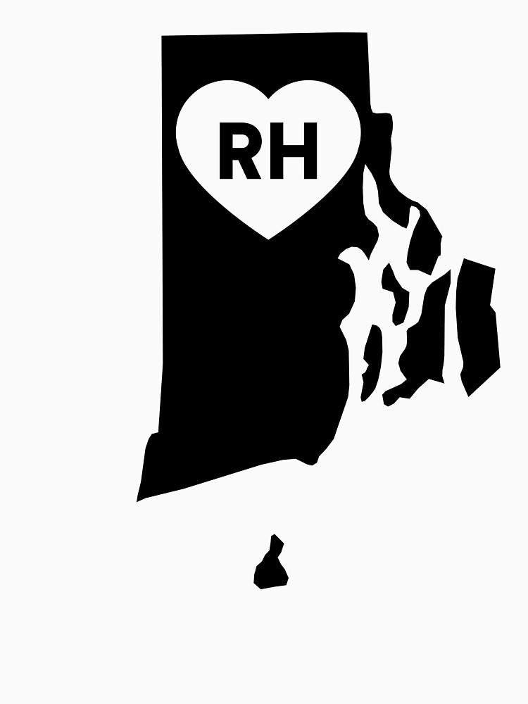 I Love Rhode Island State by Chocodole