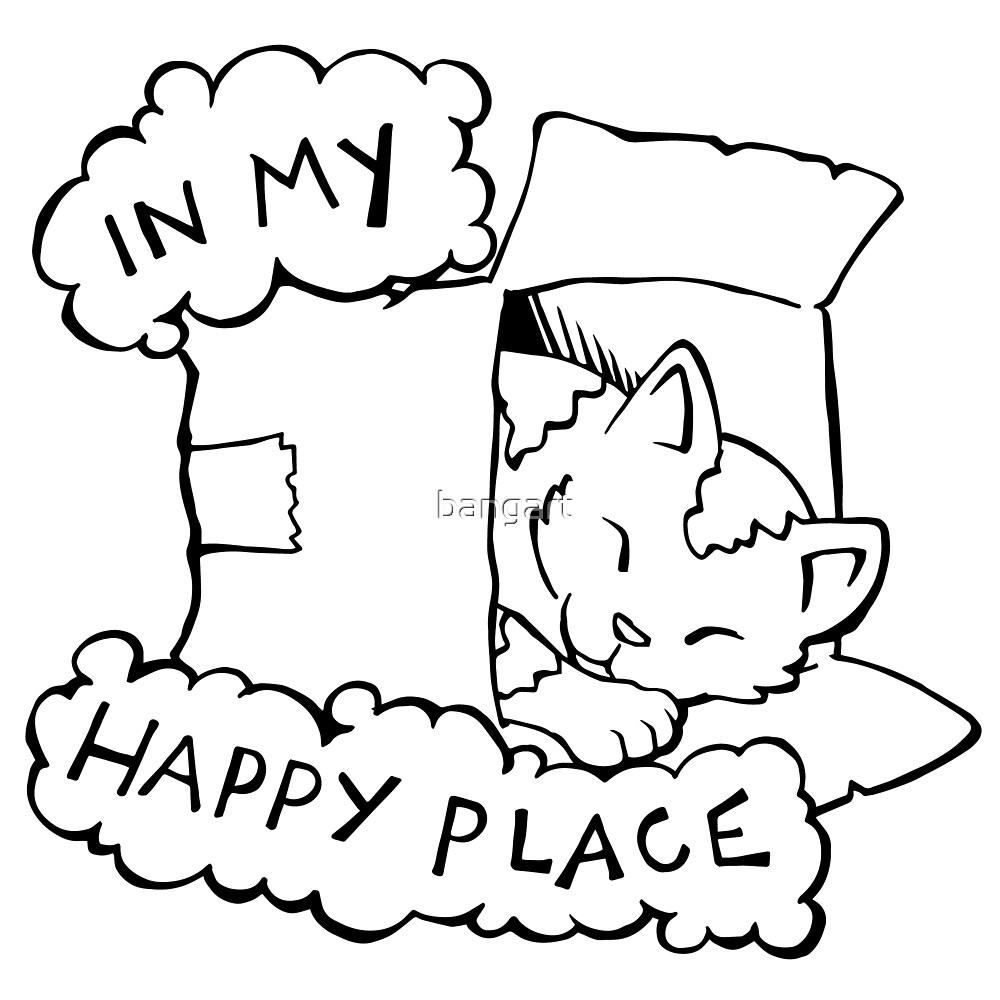 In My Happy Place Cat by bangart
