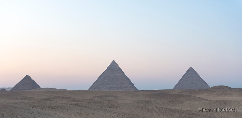 Pyramids and Desert by Michael Dietrich