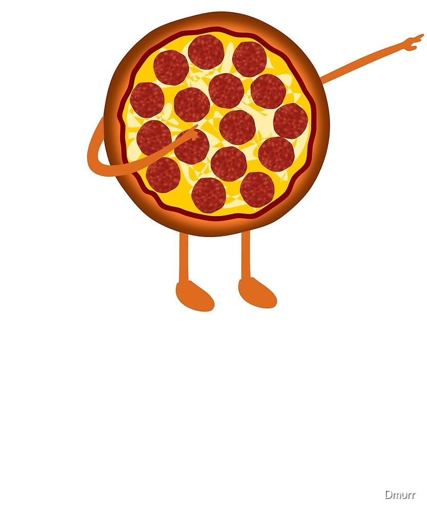 Dabbing Pepperoni Pizza Man, Funny Novelty Merch by Dmurr