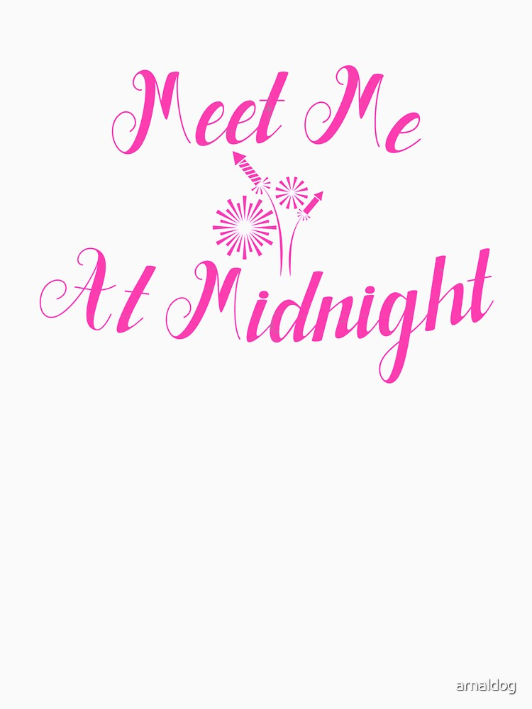 Meet Me At Midnight Pink New Year Eve Presents Vintage Gift by arnaldog
