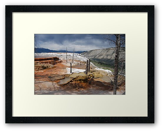 Mammoth Hot Springs 1 by Bob Moore