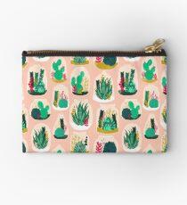 Terrariums - Cute little planters for succulents in repeat pattern by Andrea Lauren Studio Pouch