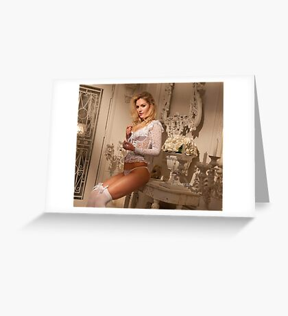 Carly with Candalabra Greeting Card