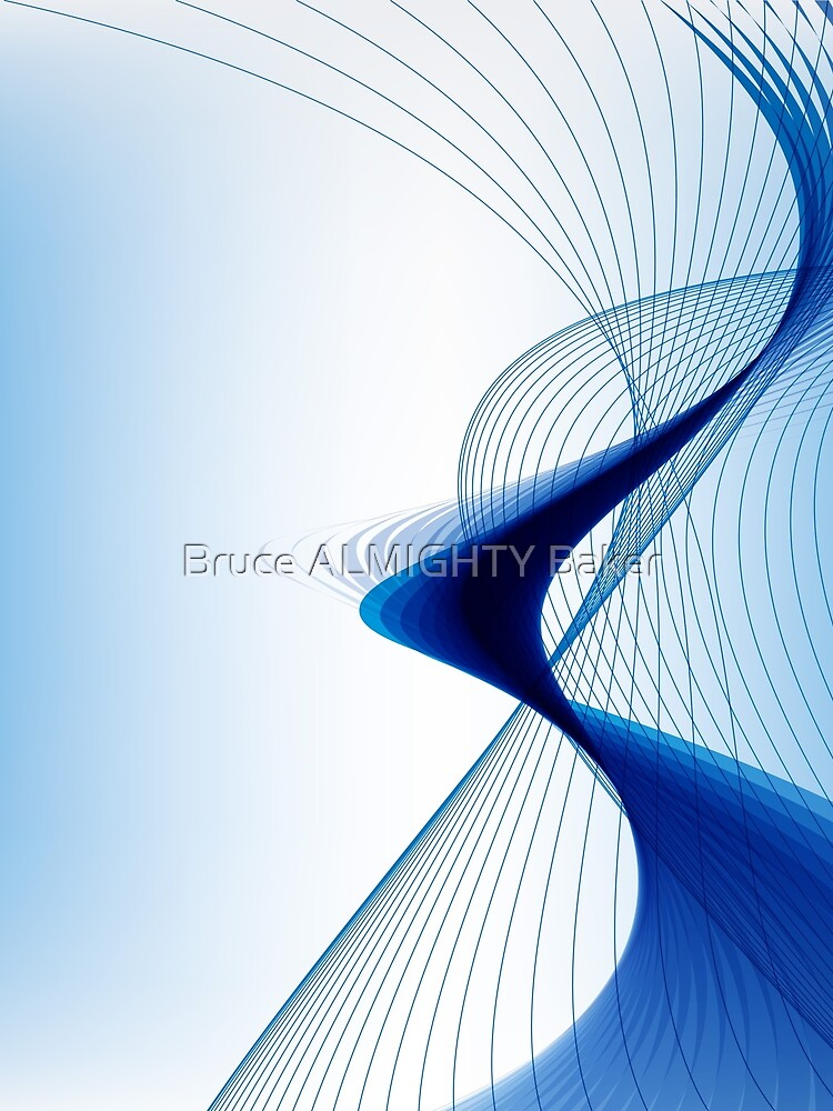 Blue Lines Abstract Art by BruceALMIGHTY