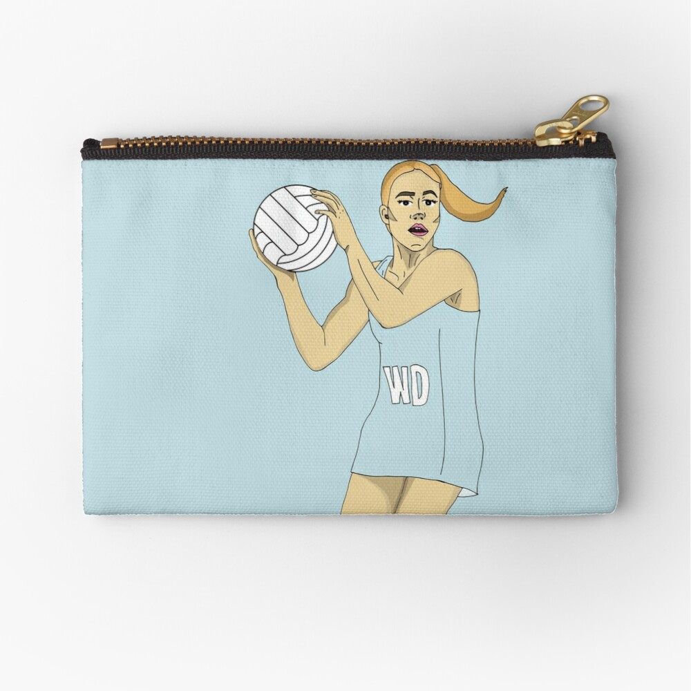 Wing Defence LIGHT BLUE Zipper Pouch