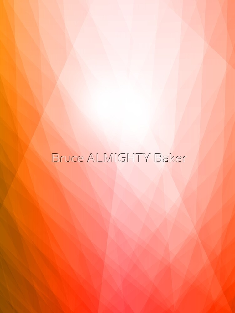 Green Orange Abstract Art by BruceALMIGHTY