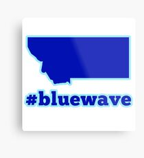 Blue Wave (Montana) Metal Print
