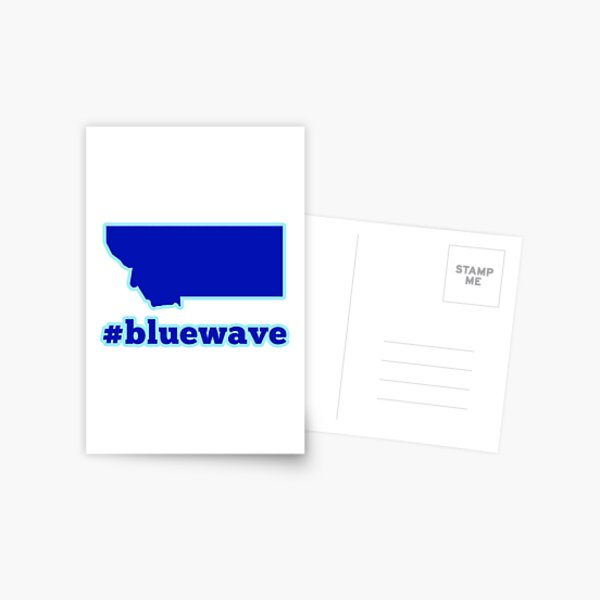 Blue Wave (Montana) Postcard