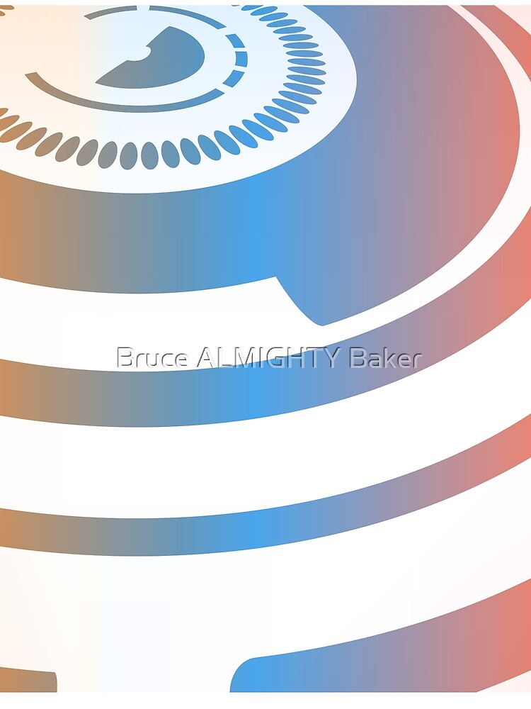Blue Circles Abstract Art by BruceALMIGHTY