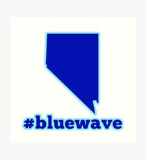 Blue Wave (Nevada) Art Print