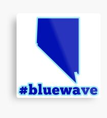Blue Wave (Nevada) Metal Print
