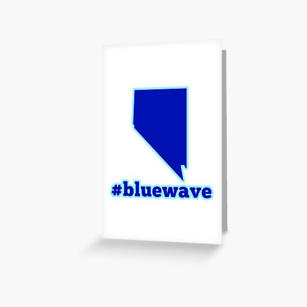 Blue Wave (Nevada) Greeting Card